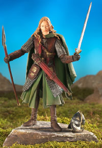 EOWYN IN ARMOR with Sword Slashing Action